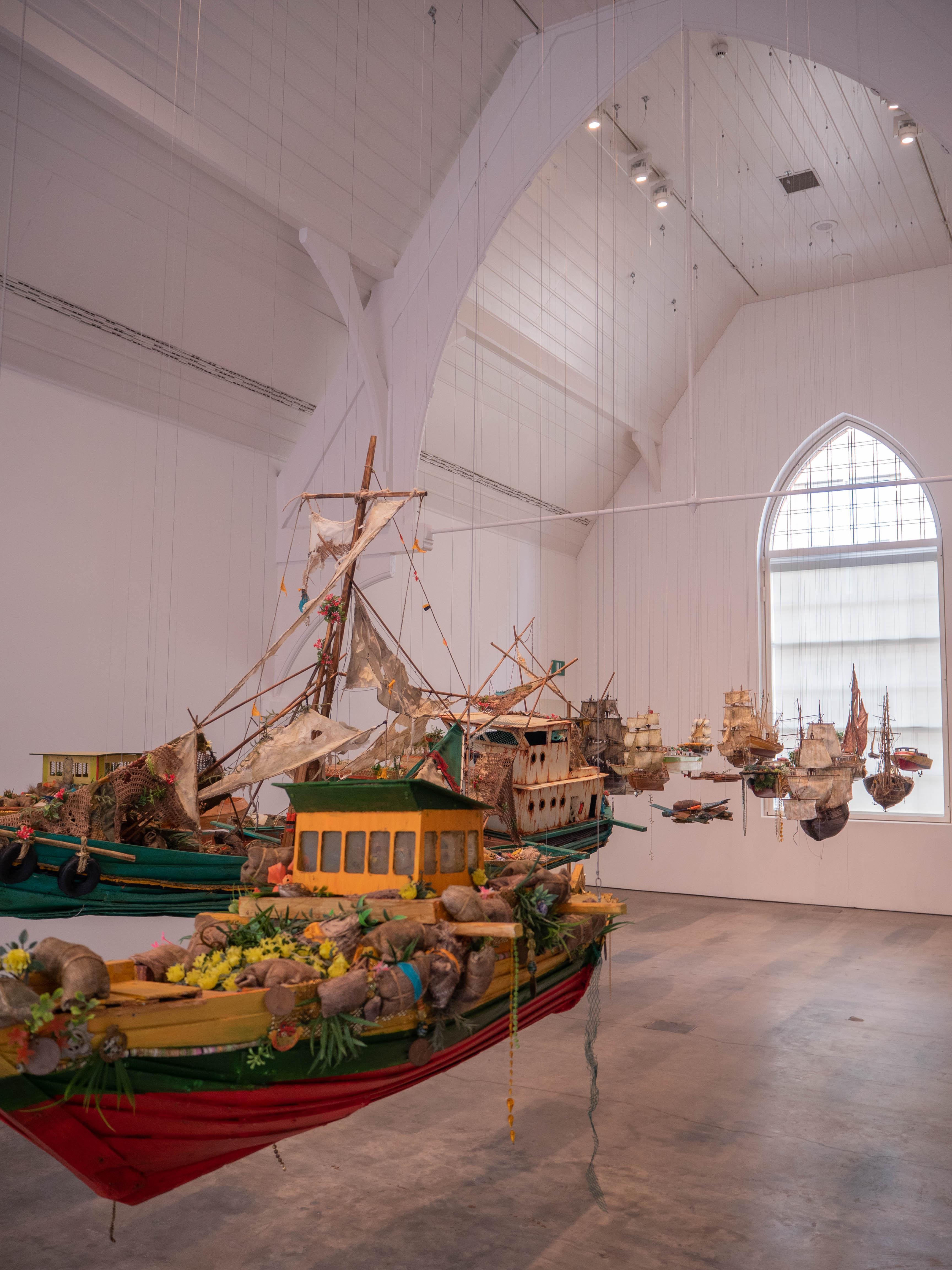 An art exhibit at Ikon Gallery in Birmingham