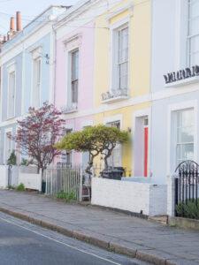 Pastel Houses in Kentish Town